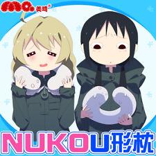 Girls' Last Tour Chito Yūri Cute nuko Plush Soft U-type Neck Pillow For Gift
