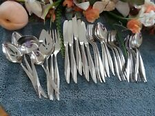 Oneida Craft 18/8 USA Deluxe Stainless TEXTURA 36pc Set w/ Serving  Excellent