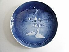 """Bing & Grondahl Christmas Plate 1974 Christmas In The Village 7 1/8"""""""