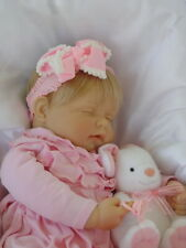 Retired Berenguer 21 inch Sleeping Baby Dolll with Paci and Plush Bunny