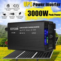 UPS Power Inverter Pure Sine Wave 12V to 240V Car Caravan Boat 3000W Max