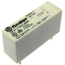 Finder 43.41.7.024.4000 Relais 24V DC 1xUM 10A 2200R 250V AC Relay AgSnO2 855044