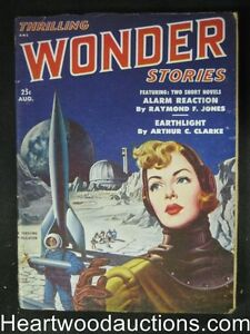"""Thrilling Wonder"" Aug 1951 Arthur C. Clarke, Fredric Brown"