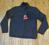 NEW Mens black FREE COUNTRY full zip sweater knit fleece jacket size Small S $80
