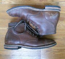 Viberg for Leffot #145 Derby Shoe Black Chromexcel Sz 9 Crepe Sole Brogue Captoe