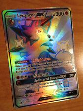NM FULL ART Pokemon Shiny LYCANROC GX Card HIDDEN FATES Set SV67/SV94 SM Rare