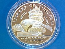 Library of Congress - 2000 P - Commemorative Proof Silver Dollar - w/Box & COA