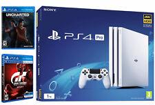 PLAYSTATION PRO PS4 PRO 1 TB Bianco con GT SPORT & inesplorato LL-NUOVO e SIGILLATO