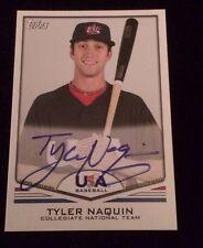 TYLER NAQUIN 2011 TOPPS USA Autographed Signed AUTO Baseball Card USA-A17