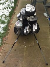 New listing Mizuno Carry Stand Golf Bag with iron set and extra clubs excellent condition.