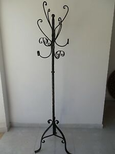 Coat Hangers Hanger Wrought Iron Stand 6 Seats