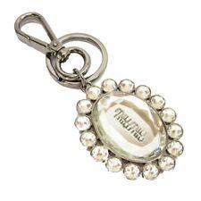 d37e7c03042 Miu Miu Trick Metallo Oval Crystal Clear Plex Charm Key Chain key Ring  5TM092