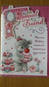A VERY SPECIAL FRIEND LARGE SIZE BIRTHDAY CARD