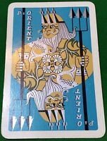 Playing Cards Single Card Old P&O Shipping Line Advertising Art Design NEPTUNE 1