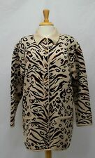 Vintage Escada by Margaretha Ley Wool Cashmere Animal Print Cardigan Size 40