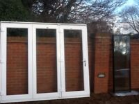 exterior external upvc double glazed bi folding / bifold doors fully glazed