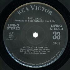 PAUL ANKA Living Stereo 33: Teach Me Tonight, I'll See You In My Dreams +2   VG+