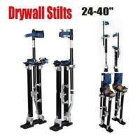 "Drywall 24-40"" Stilt Aluminum Tool Painting Painter Taping Strap Finishing Balck"