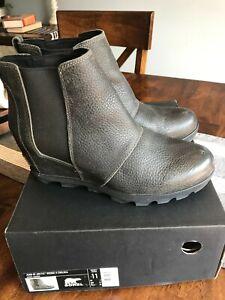 $250 Sorel Joan of Arctic Wedge II Chelsea Bootie Quarry Women's US size 11