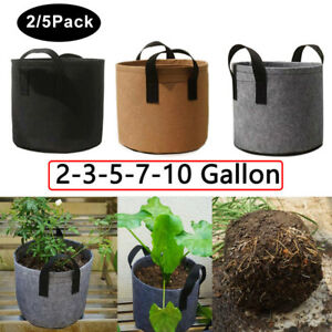 2/5pcs Fabric Plant Grow Bags Pot flower fruit Vegetable Potato tomato Grow bags