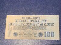 GERMANY - 100 BILLION  MARK  BANKNOTE 1923- BERLIN-INFLATION - VERY FINE