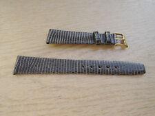 Leder Uhrenarmband Eidechse Ersatzband grau 16mm  b181