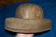 Antique Wooden Hat Forming Mold Old Vintage Wood Form Shaping Frame Molding Mens