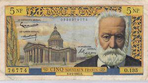 France 5 Nouveaux Francs 4.2.1965 O.135 n° 0336376774 Pick 141a