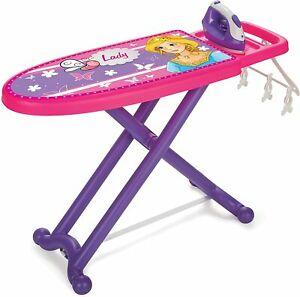 Children Pretend Play Folding Ironing Board Toy with Iron Fun Activity 71x26 cm