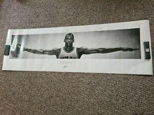 """Original 1989 Michael Jordan Nike Poster """"WINGS"""" NOS 24 X 76 1st Print!!!"""
