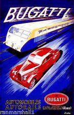 1935 Bugatti French France Automobile Car Vintage Advertisement Art Poster Print