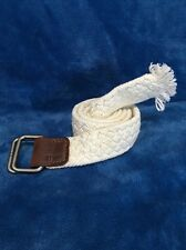 American Eagle Outfitters RTM 1977 Size Medium Braided Woven Cord Belt Ivory !