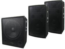 800 Watt Aktiv Set Lautsprecher Box PA Profi DJ Satelliten 38 cm Subwoofer 2.1
