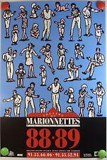 1988-89 Marseille Théâtre de Marionnettes MASALIA   AFFICHE ORIGINALE/2PB
