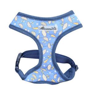 Dog Puppy Soft Harness - iPuppyone - Adjust Neck Chest - Ella - Blue Small Large