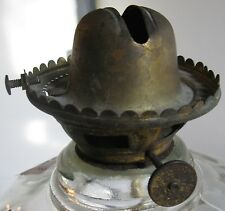 ANTIQUE NO.2  BRASS BURNER P&A MFG CO FILLING w/o REMOVING CHIMNEY CA 1860-1900