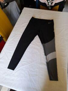 Womens Nike Power Training Leggins/Size XL/Black/88% Polyester 12% Elastane/GC