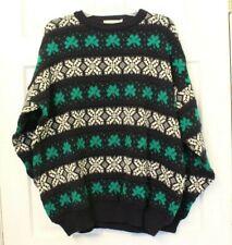 Vtg Blarney Woolen Mills 2XL Shamrock Irish Acrylic St. Patrick's Sweater