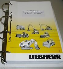 Ersatzteilkatalog Pièces de Rechange Liebherr Bagger A 904 C-LI Stand 01 / 2006