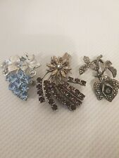 In Excellent condition With Semi Gems 3, X Beautiful Art Deco Brooches All