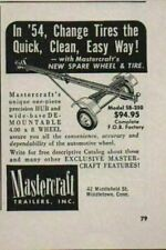 1954 Print Ad Mastercraft Model SB-250 Boat Trailers & Spare Tire Middletown,CT