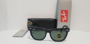 Ray-Ban RB2140 Classic Wayfarer Sunglasses W/901 Black Frame Green Lens 54MM