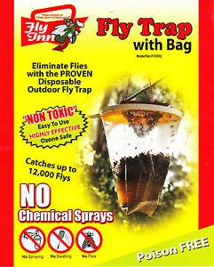 FlyTrap X 4 Fly Inn® Outdoor 3L Monster RedTop® Fly Catchers Fly Traps