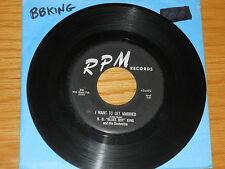 """BLUES 45 RPM - B.B. KING - RPM 492 - """"TROUBLES, TROUBLES, TROUBLES"""""""
