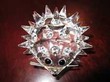 Swarovski Large Crystal Hedgehog Retired Made in Austria Mint 33 Quills