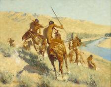 Remington Frederic Episode Of The Buffalo Gun Canvas 16 x 20  #2579