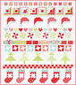 QUILT TOP KIT~Moda VINTAGE HOLIDAY fabric~78 X 88 IN~CHRISTMAS~BONNIE CAMILLE