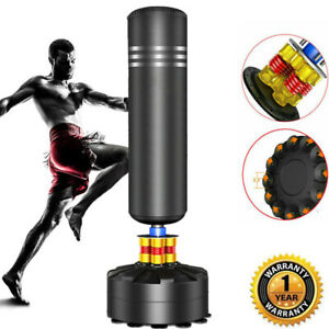 5.7ft Free Standing Boxing Punch Bag MMA Martial Arts Indoor Training Filled Pro