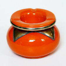 Marokkanische orientalische Keramik Handarbeit Aschenbecher Orange D12,50cm