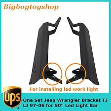 "50""IN LED Light Bar Upper and Lower Mounting Brackets 97-06 Jeep Wrangler TJ LJ"